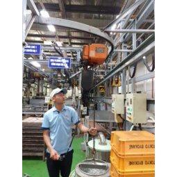 Palang xích điện HITACHI 250kg treo cố định